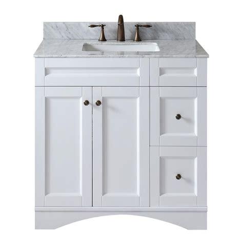 36 X 22 Vanity Top by Virtu Usa Elise 36 In W X 22 In D Single Vanity In White