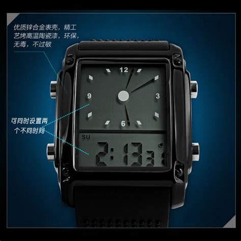 Jam Tangan Pria Original Murah Igear Digital Silver Hitam Gold skmei jam tangan trendy digital analog pria 0814g