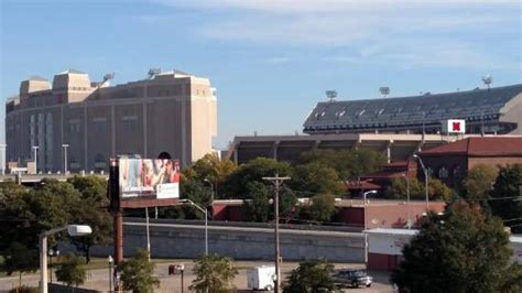 hton inn boone memorial stadium view from hotel picture of