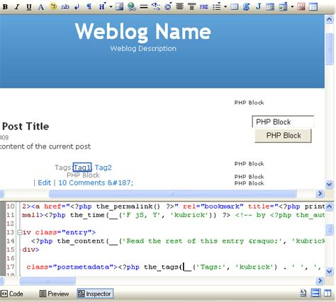 wordpress theme editor javascript codelobster wordpress plug in for free portable php ide