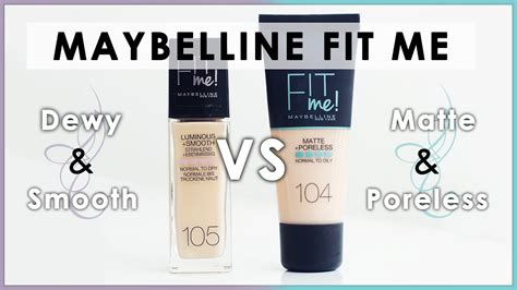 Fit Me Foundation Dewy Maybelline maybelline fit me foundation matte vs dewy l