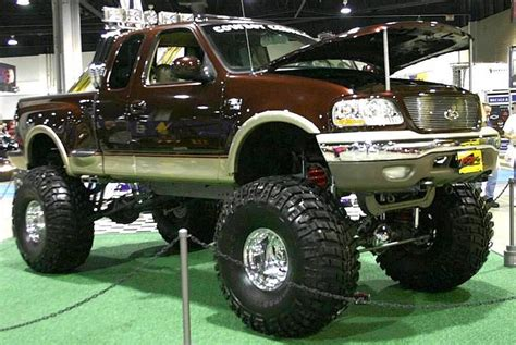 Bar End Xy Racing Gold lifted 2000 ford f 150 truck lariat 4x4 cab