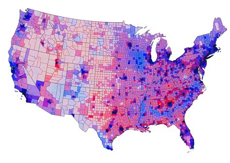 us map and blue counties 2012 election map shows mostly purple not and blue nation