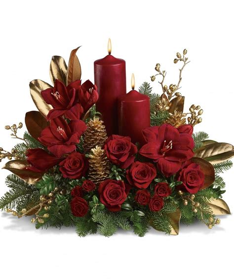 christmas flower arrangements casual cottage