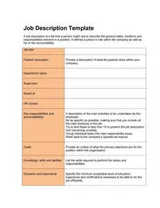 position description template 49 free description templates exles free