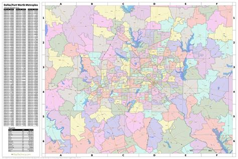 fort worth texas zip code map search the maptechnica printable map catalog maptechnica