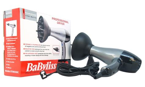Babyliss Hair Dryer Quartz babyliss pro tt tourmaline and ceramic hair dryer with concentrator groupon