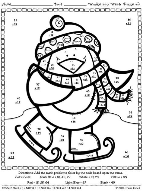 math puzzle coloring pages addition color by number math worksheets math