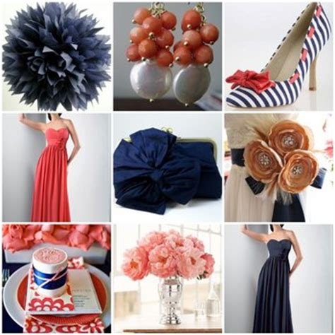 navy and coral wedding ideas inspiration coral and navy blue wedding theme project