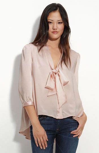 Nosh Korean Style V Neck Blouse Bow Tie Clara 37 best satin1 images on