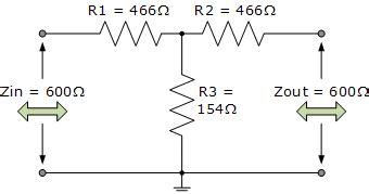 resistor t network t pad attenuator tutorial for passive attenuators