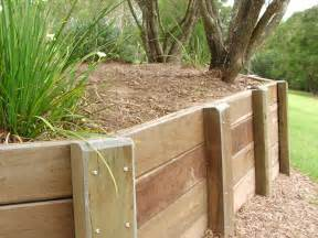 3 wood types for building wooden retaining walls home