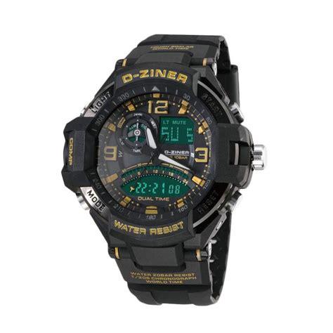 D Ziner Hitam Merah harga d ziner dual time jam tangan pria silver list