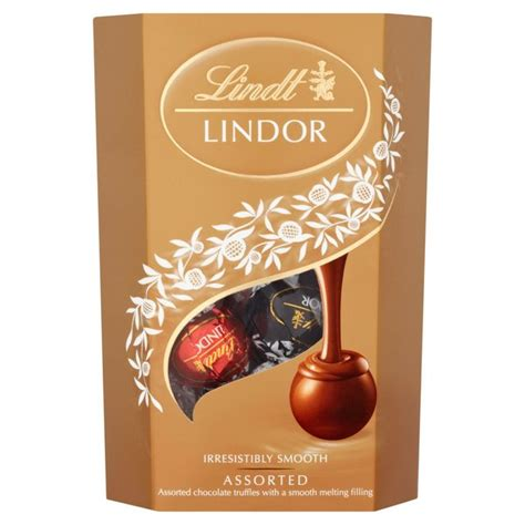 morrisons lindt lindor assorted chocolate cornet truffles