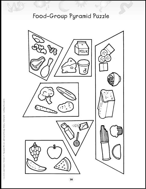 food pyramid coloring pages for kindergarten food pyramid puzzle noble activities pinterest my