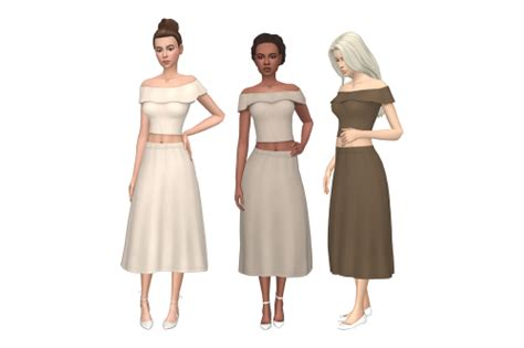 Set Top Skirt 4 sims 4 skirt and top set