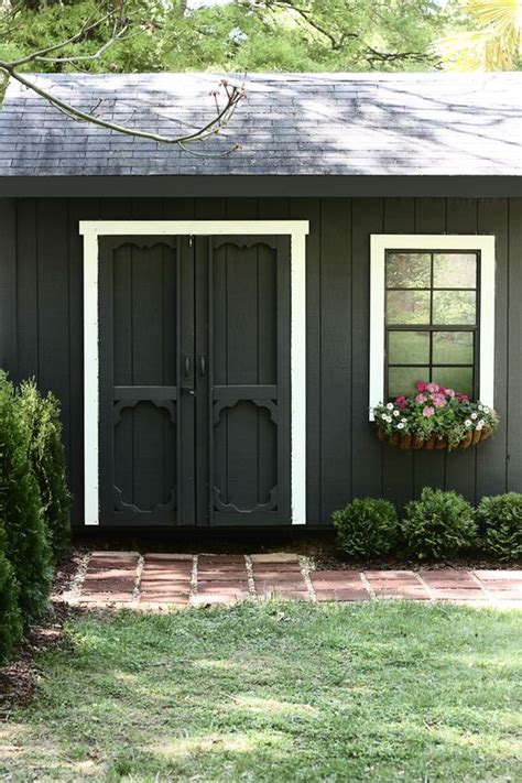 she shed pinterest the hunted interior she painted her shed black