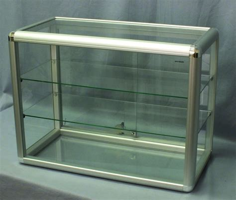 Display Cabinet Lockable by Locking Display Cases Glass Shelved Display