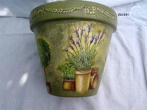 Decoupage Clay Pots Ideas - pots and buckets decoupage flower pots