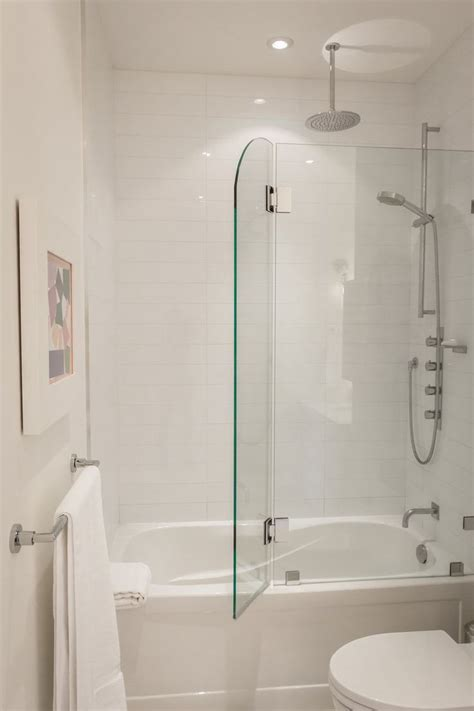 tub shower combo glass doors greg rob s sky suite house tour