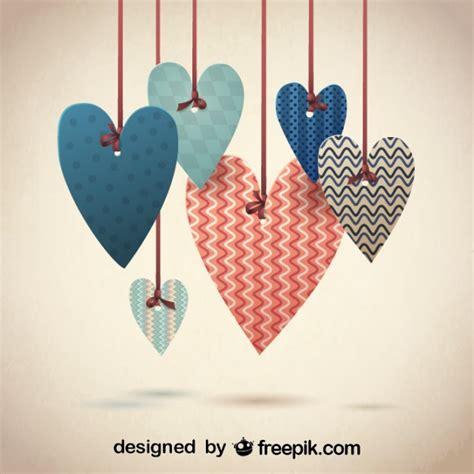 fondo de corazones vintage descargar vectores gratis corazones con dise 241 os de patrones retro para san valent 237 n
