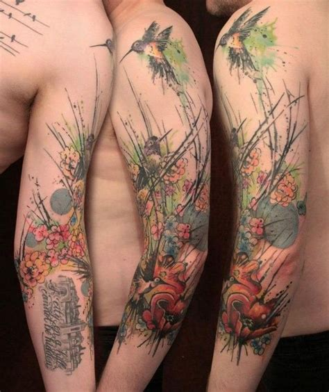 watercolor style tattoo sleeve 110 best sleeve tattoos images on ideas