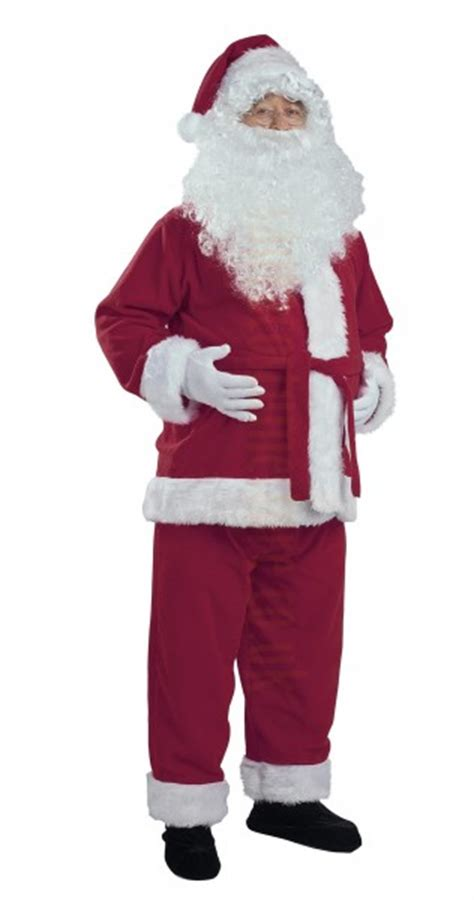 royal purple santa suit jacket trousers and hat