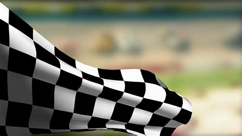 Checkered Flag L by Checkered Flag At Car Race Motion Background Videoblocks