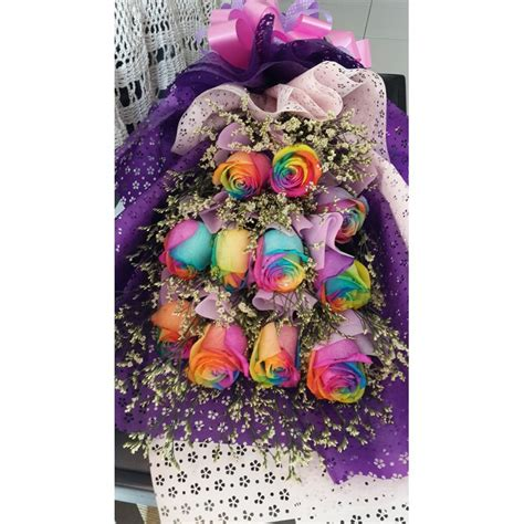 Bouquet Flower Soap With Doll Gift Anniversay Import Murah rainbow side bouquet