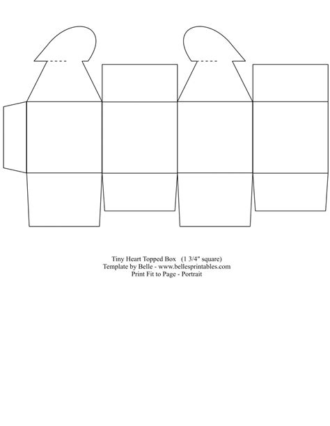 printable templates for gift boxes 8 best images of simple free printable box templates