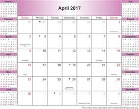 Calendar 2018 April Nz April 2017 Calendar Printable With Holidays In Usa Uk Nz
