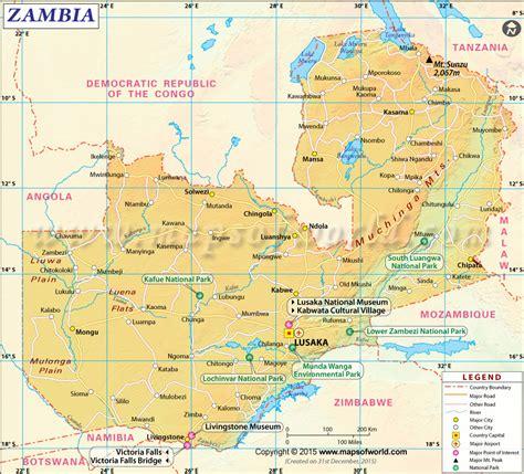 map of lusaka city map of zambia zambia map