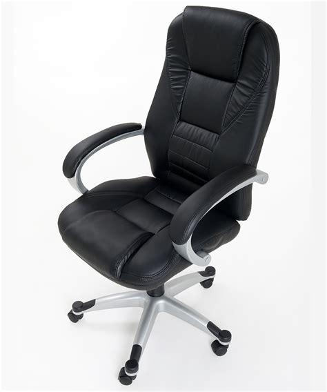 sedia presidenziale poltrona in eco pelle nera da ufficio presidenziale