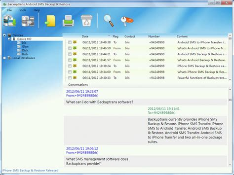 android sms backup backuptrans android sms backup restore windows 7 screenshot windows 7