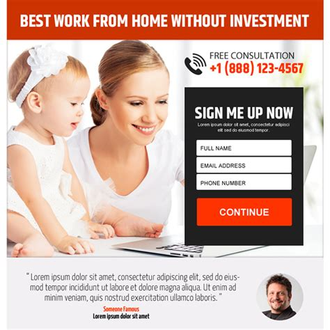 Online Work From Home Without Investment - work from home ppv landing page design to earn money online without investment