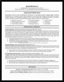 assistant principal resume doc 28 images new assistant principal resume sle document