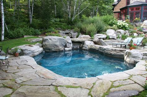 stone pool deck natural stone pool natural slabs create pond like