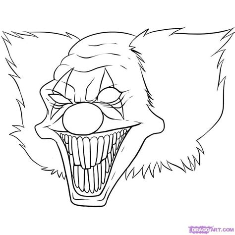 Scary Clown Coloring Page Az Coloring Pages Scary Coloring Pages