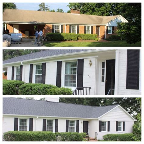 before and after lowes brick panel painted white brick backsplash faux brick shop house pinterest the world s catalog of ideas