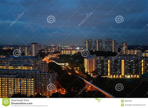 government housing train station government housing in singapore stock photo image 38923596