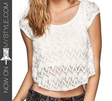 Pin My Style» Cute White Crochet Crop Top Outfits