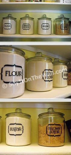 labels for kitchen canisters jar labels tags 5 quot x3 quot to help organize your pantry vinyl