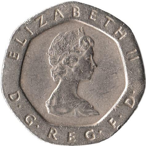 Koin Elizabeth Ll Dg Reg Fd 20 pence elizabeth ii 2nd portrait united kingdom