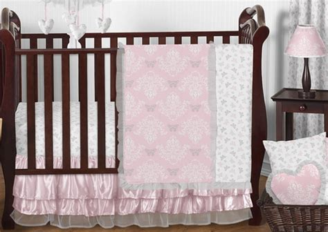 Jojo Butterfly Crib Bedding Pink And Gray Butterfly Baby Bedding 11pc Crib Set By Sweet Jojo Designs Only 189 99