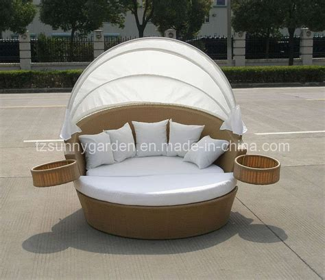 China Outdoor Rattan Sun Bed Sg3003 China Rattan Outdoor Furniture Bed