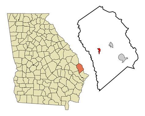 Effingham County Search File Effingham County Incorporated And Unincorporated Areas Guyton Highlighted