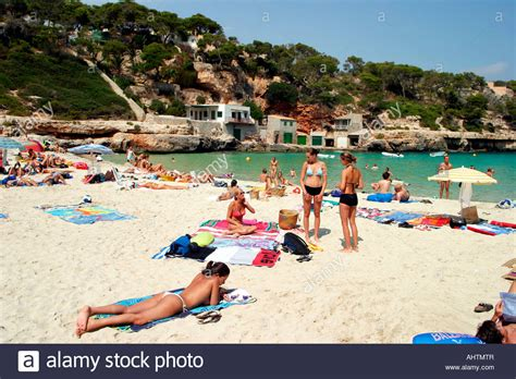 beaches mallorca cala llombarts in mallorca in summertime with
