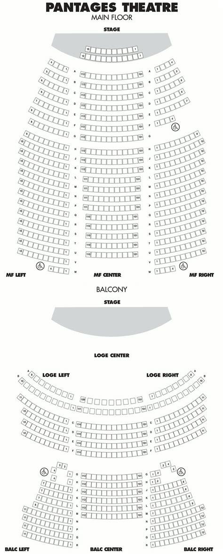 pantages seating chart pantages seating chart web radio nl