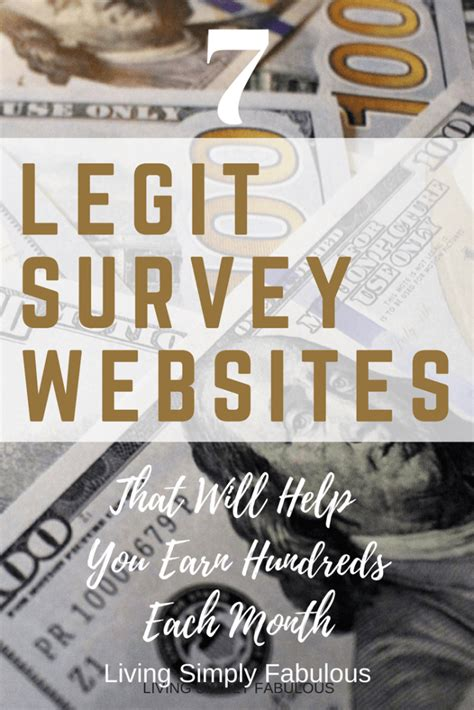 Legitimate Survey Sites For Money - 7 legit survey sites to make extra money living simply fabulous