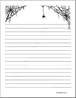 Writing Paper Spider Elementary Abcteach Writing Paper Spider Elementary Abcteach